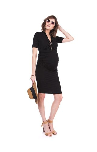 Seraphine Prue Bodycon Black Maternity Dress