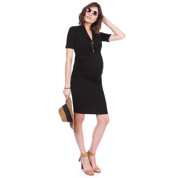 Prue Bodycon Black Maternity Dress