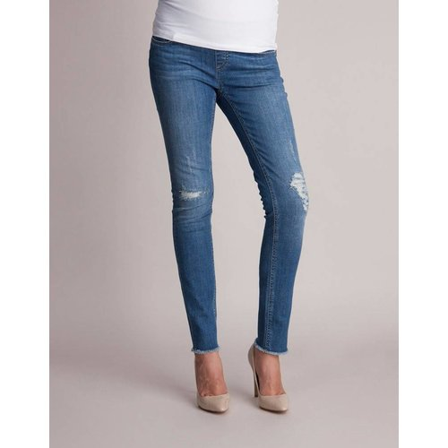 Seraphine Hunter Distressed Slim Under Bump Jeans
