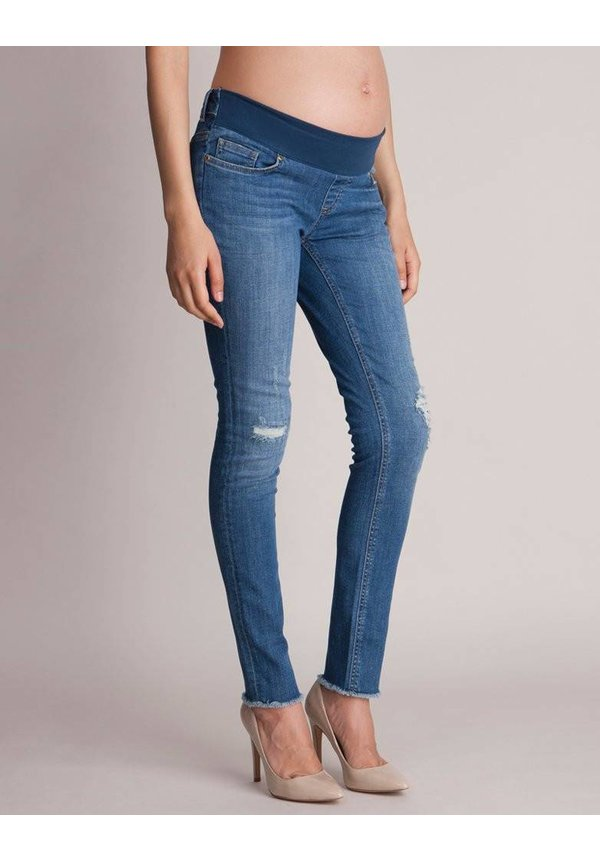Hunter Distressed Slim Under Bump Jeans