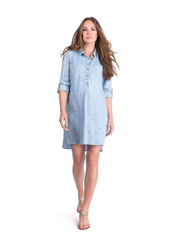 Lula Denim Blue Maternity Shirt Dress