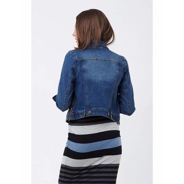 Denim Jacket With Side Zips