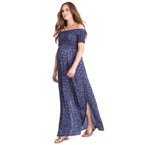 Seraphine Cara Shirred Off Shoulder Maxi Dress