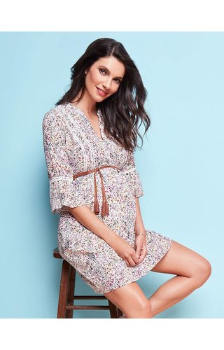 Seraphine Becky Dress Boho Contrast