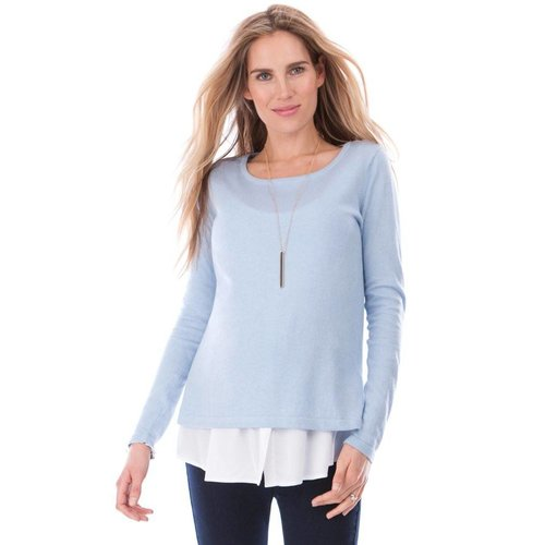 Seraphine Trisha Knitted Jumper With Blouse Hem