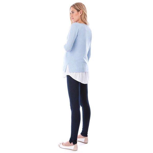 Trisha Knitted Jumper With Blouse Hem