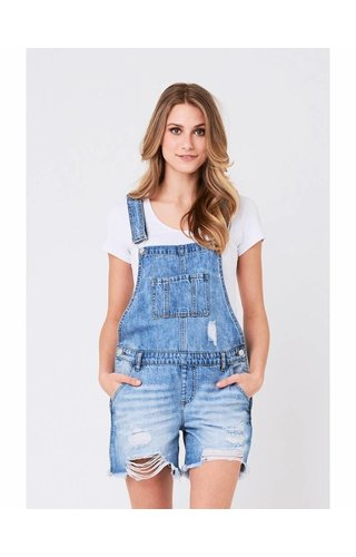 Ripe Denim Short Overalls