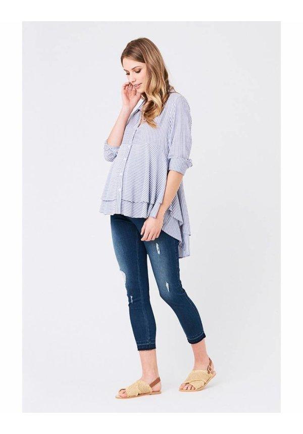 Stripe Layered Peplum Shirt