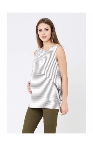 Ripe Stripe Swing Back Nursing Tank