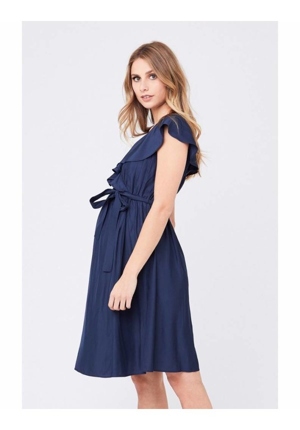 Frill Wrap Nursing Dress