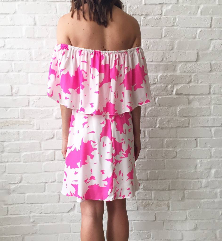 Electric Pink Off The Shldr Dress