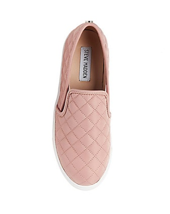 Blush Quilted Slip On