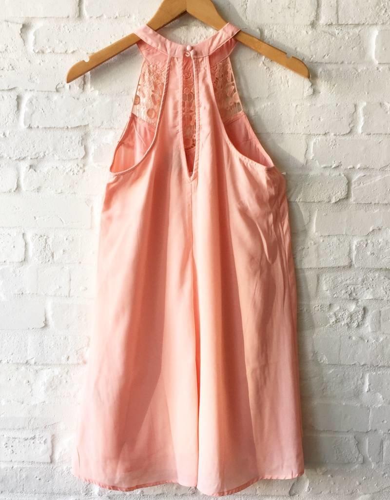 Blush Crochet Tank Dress