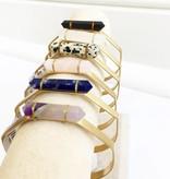 Mini Stone Cuffs
