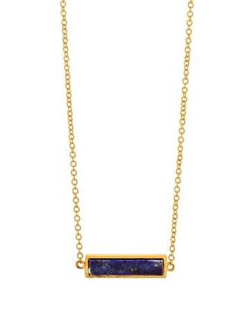 Dez Bar Necklace-Lapis