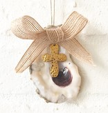 Cross Oyster Ornament