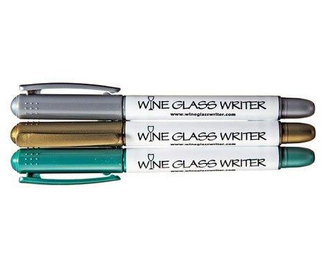 Metallic Wine Glass Writer-3 pack
