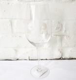 Wht Wine Glass-Fleur de Lis