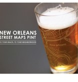 NOLA Map Pint Glass