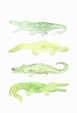 Watercolor Alligator Print