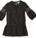 3/4 Slv Black Dress w/ Lace Detail