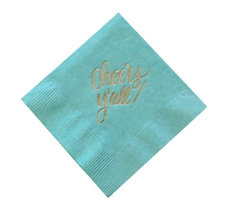 Cheers Y'all Cocktail Napkins