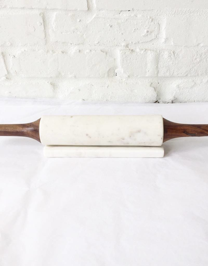 Wht. Marble Rolling Pin