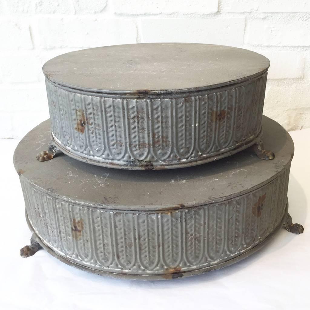 "Grey 12"" Cakestand"