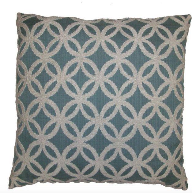 Blue Circle Pillows