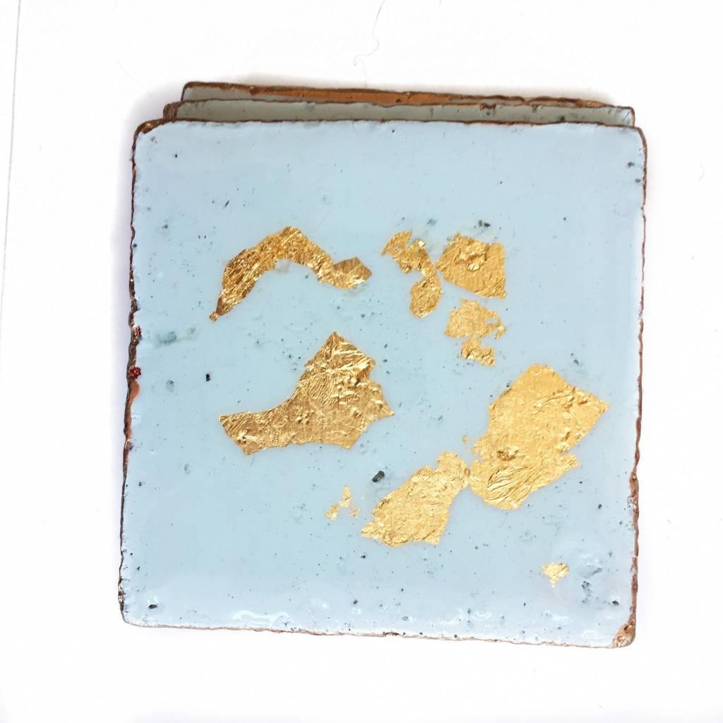 Lt. Blue/Gold Coasters