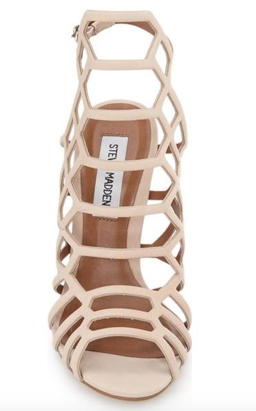 Honeycomb Nude Sandal