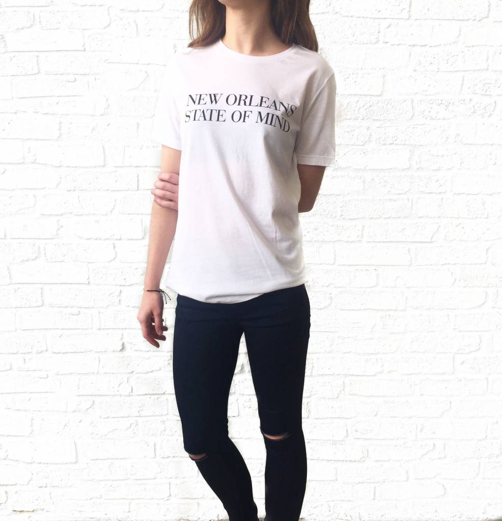 White New Orleans State Of Mind Tee