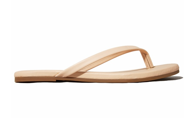 Shiny Nude Flip Flop