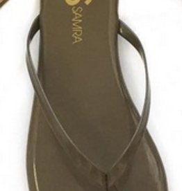 Shiny Taupe Flip Flop