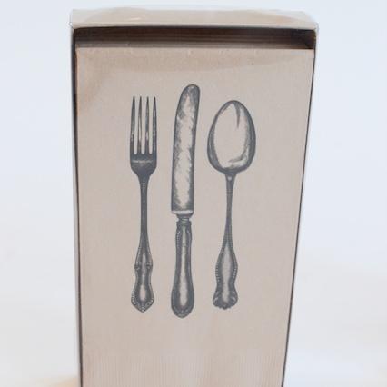 Fork, Knife, Spoon Dinner Napkins