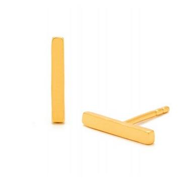 Gold Taner Bar Mini Studs