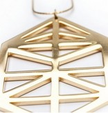 Crop Circle Pendant- Gold Mirror