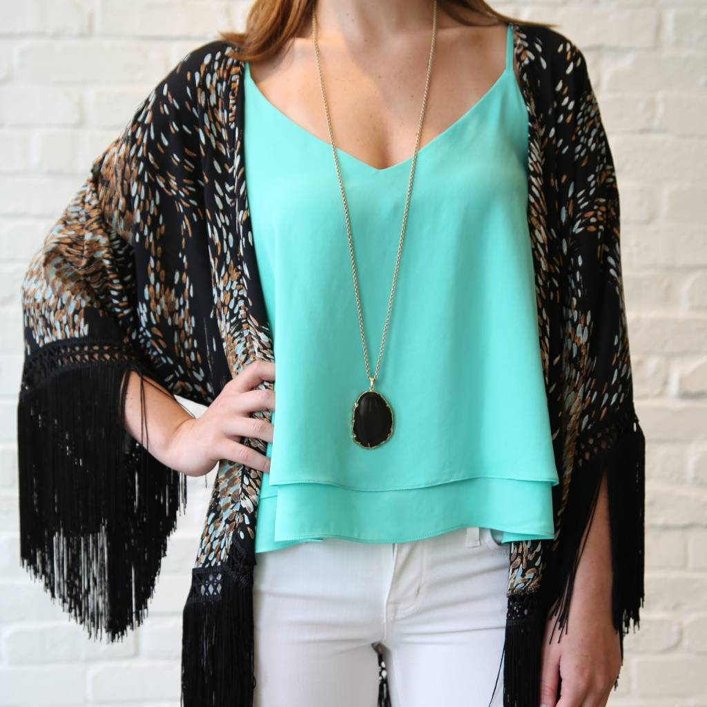 Double Layer Tank-Mint