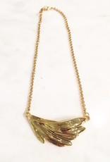 Gold Leaf Short Necklace