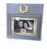 5X7 Landscape Grey Frame w/ Laurel Wreath