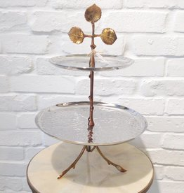 Nickle/Brass Leaf 2 Tier Server