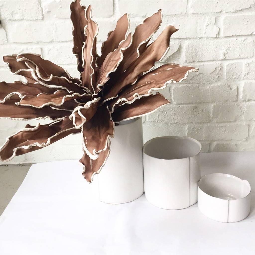 Draper Med White Ceramic Vase