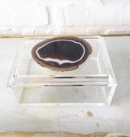 Agate Acrylic Box w/ Lid