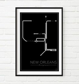 """NOLA Streetcar Map Print"""