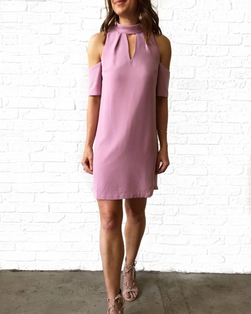 Lavender Cold Shdlr Dress