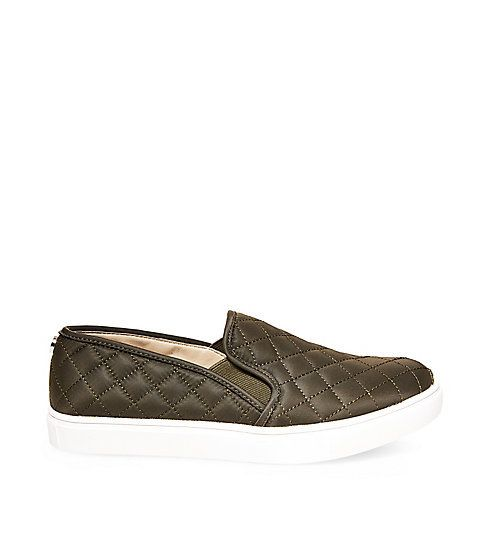 Olive Quilted Slip On