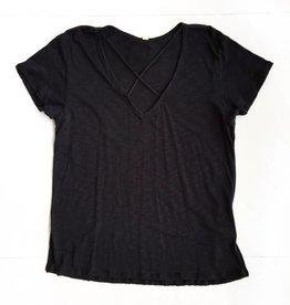 Black Crisscross Shirt