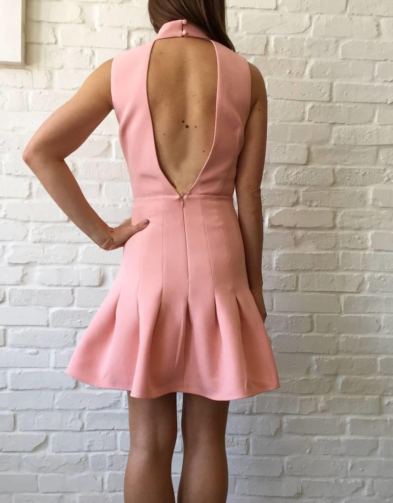 Peony Keyhole Vneck Dress