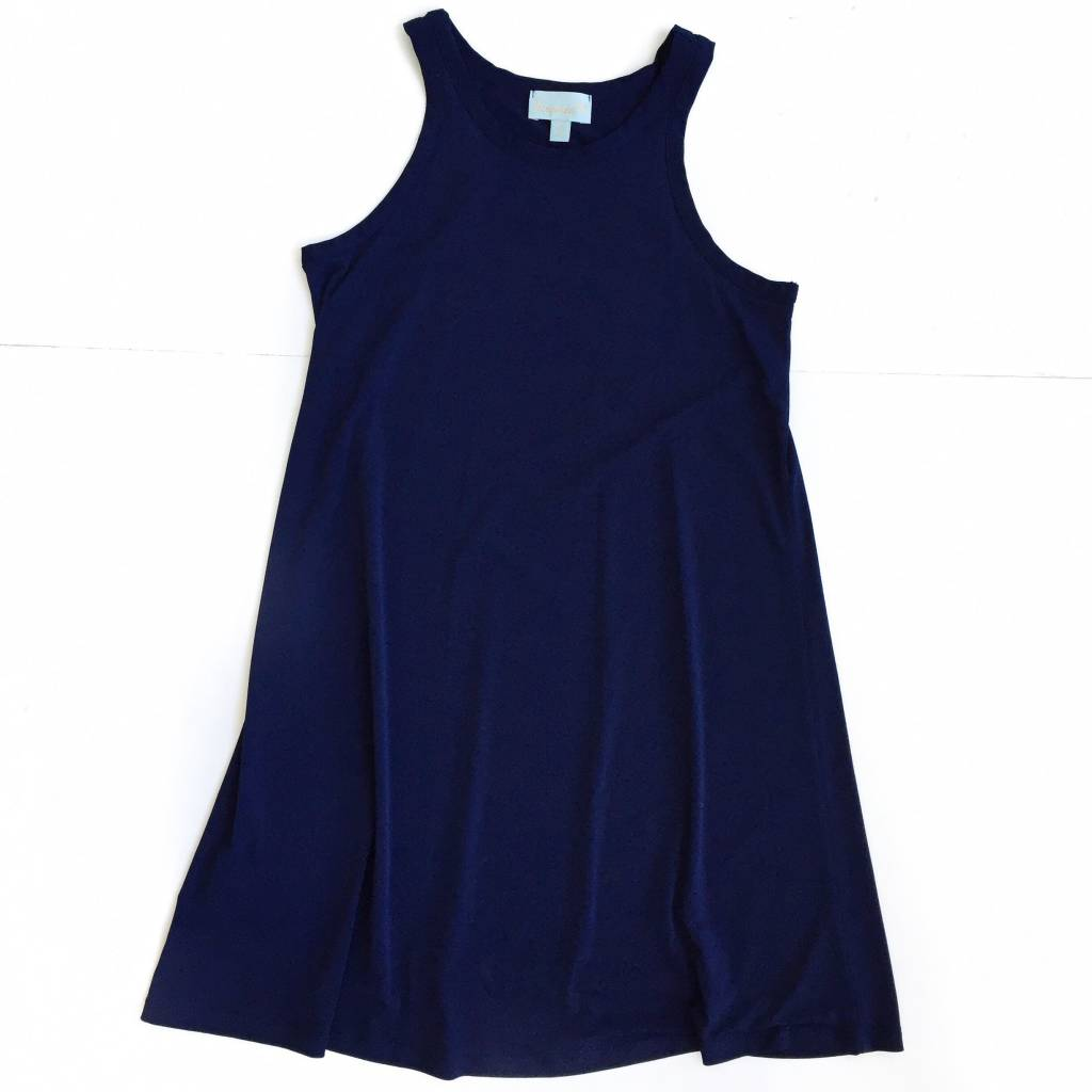 Navy Ity Tank Dress