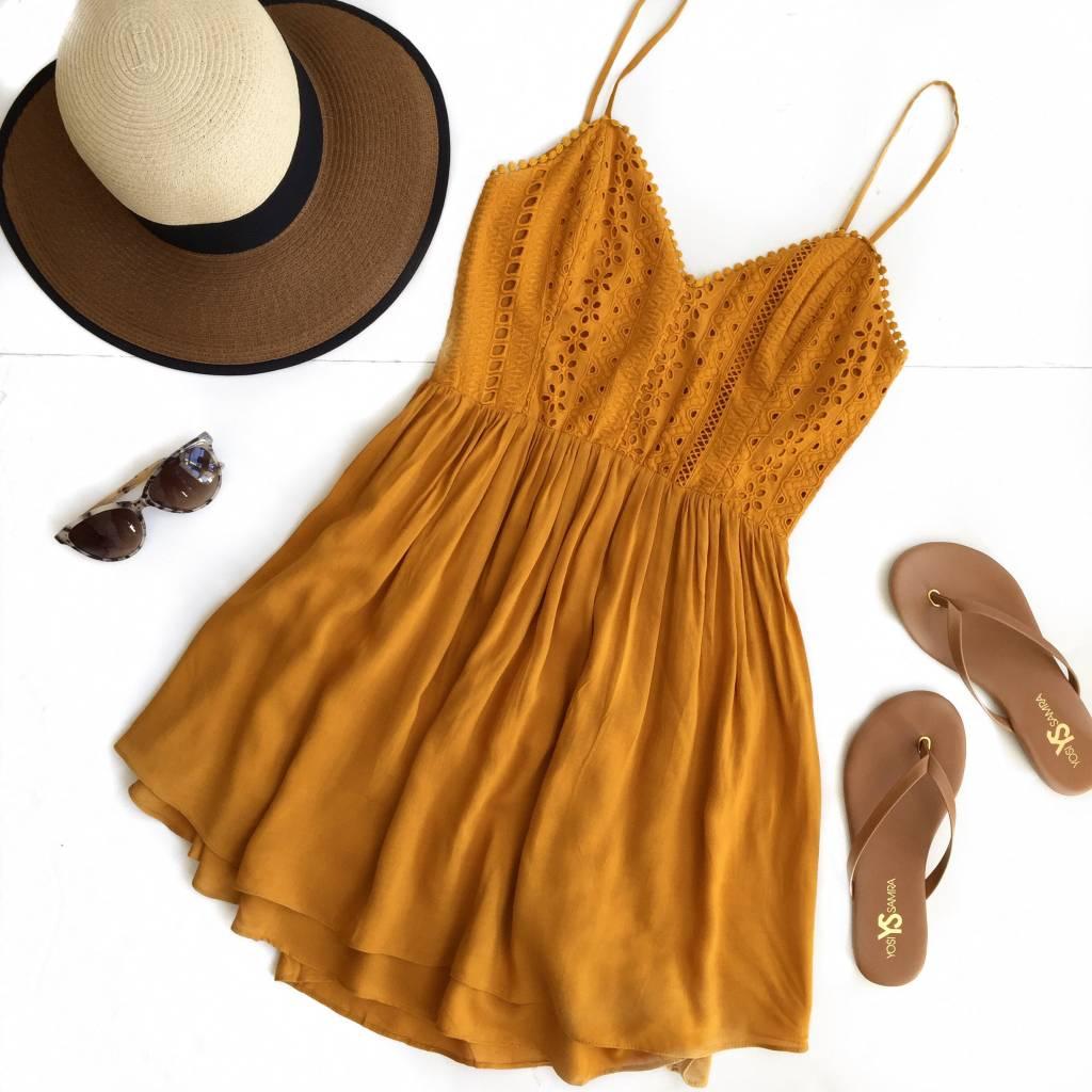 Marigold S/L Eyelet Dress
